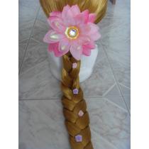 Peluca Trenza Rapunzel Tangled Enredados Disfraz Niña Mimi