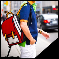 Mochila Diseño Dibujado Geek Cartoon Adolescente -children