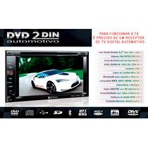Dvd Para Carro Central Multimidia 2 Din Bluethooth Usb Sd