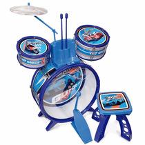Bateria Infantil Hot Wheels Com Banco - Fun Diverta-se