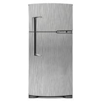 Vinil Adesivo Aço Escovado Geladeira Frigobar Freezer 1,5x1m
