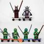 Kit C/ 6 Bonecos Tartarugas Ninja Compatível Lego Tmnt Pizza