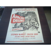 Poster Original Apache Drums Stephen Mcnally Fregonese 1951