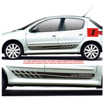 Kit Faixa Lateral Adesivos Peugeot 206 207 Sw 4 P Acessórios