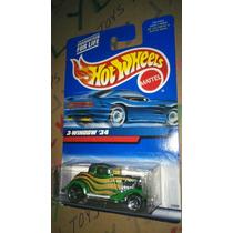 Hot Wheels Noventero Ford 3 Ventanas 1934 Verde Lyly Toys