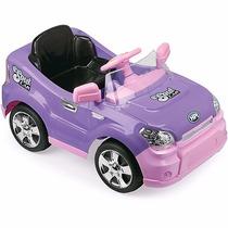 Carro Passeio Infantil Eletrico Controle Lilas C/ Rosa