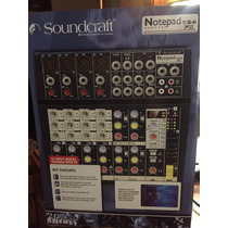 Cónsola Soundcraft Notepad 124fx 4 Canales Stereo + Efectos