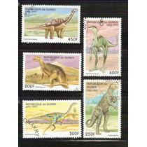 1997 Dinosaurios Animales Prehistóricos Guinea 5 Sellos