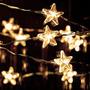Luces A Led A Pilas Calidas Alambre Navidad Navideñas Arbol