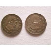 Se Vende Par De Monedas De Un Peso De 1950 Y 1957 De Plata