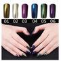 Uñas Espejo Polvo De Cromo Magic Mirror Nails 6 Colores