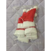 Natal Gorros De Papai Noel P/ Garrafa (kit Com 6 Unidades)