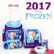 Kit Frozen Mochila Rodinhas Pequena Chenson Original