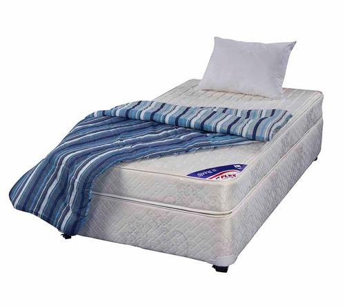 Cama americana 1 plaza flex spring ill textil 109 for Medidas camas americanas