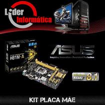 Kit Placa Mãe Asus H81m+intel Core I7 4790+16gb Hyper