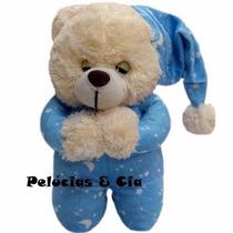 Urso De Perúcia Que Reza Pai Nosso - Azul