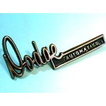 Emblema Dodge Dart Swinger Automatico Cajuela