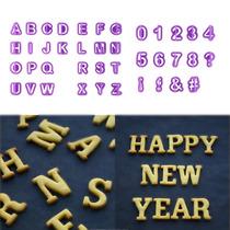 Set Cortantes Abecedario Letras Números Repostería Fondant