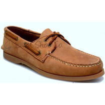 Zapato De Piel Top Sailer Modelo 1801 Honey