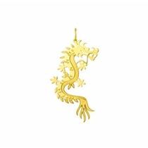 Corrente Com Pingente Dragão Ouro 18k 750