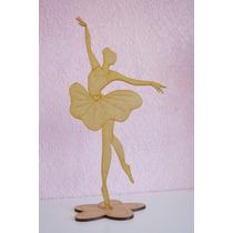 Centro De Mesa Bailarina De Ballet Mdf Corte Láser Xv Años