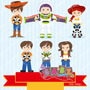 Kit Imprimible Niños Toy Story 1 Imagenes Clipart
