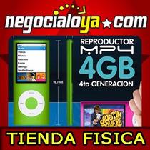 Reproductor Mp4 Con Camara Fotos Y Videos, Microfono, 4gb