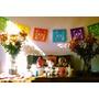 Banderines Mexicanos De Papel Picado. Decoración De Fiestas