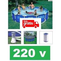 Piscina Intex 6503 L Estrutural Bomba Filtrante 220v E Capa