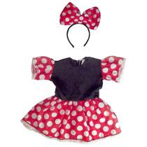Lindo Vestido Infantil Da Minnie C/ Tiara Para Fantasias