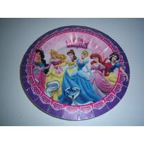 Platos Vasos Globos Dulceros Fiesta Princesas Disney