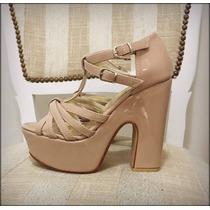 Zapatos Sandalia Nude Taco Palo, Muy Comodos De Fiesta