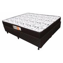 Cama Box Base + Colchao Casal Queen D33 20cm Alt 1,58 X1,98