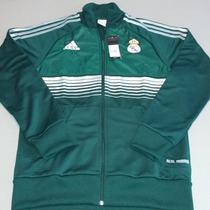 Chamarra Real Madrid 2012-13 Verde Con Gris Talla M