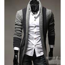 Suéter Hombre Largo Slim Fit Moda Hipster Juvenil Casual