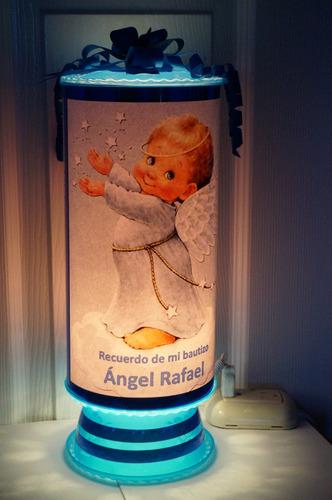 Bautizo recuerdos lamparas personalizadas angelitos 84 - Lamparas personalizadas ...