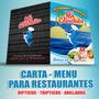 Carta Menu Para Restaurantes Y Bares