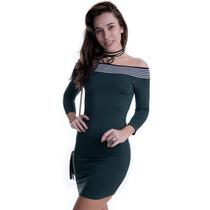 Vestido Ombro Caído De Fio - Kam Bess - Ve1440