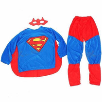 Roupa Fantasia Superman Infantil, Super Homem Com Capa