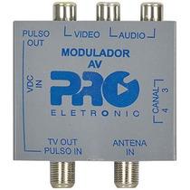 Mini Modulador Rf Pqmo-2240 Proeletronic Rca X Rf Sky Câmera