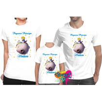Camiseta - Camisa Personalizada Pequeno Príncipe A4 -3 Pçs