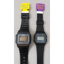 Kit 2 Relógios Aqua Original,a Prova Dágua Frete Gratis