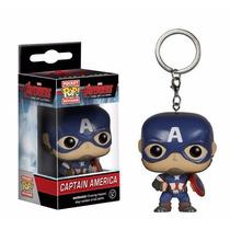 Funko Pocket Pop! Chaveiro - Capitão America Vingadores