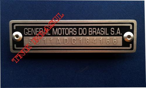 Plaqueta Do Chevette Monza Opala - R$ 240,00 em Mercado Livre