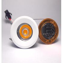 Kit 6 Mini Spot Super Led De Embutir 1w Branco Morno 3000k