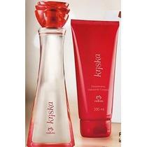 Perfume Kriska Tradicional+hidratante Corporal Natura.