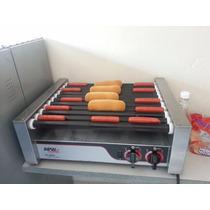 Maquina Para Hot Dogs + Roladora De Salchichas Semi-nueva
