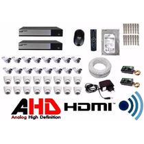 Kit Cftv Dvr Luxvision 32 Cameras Infra Ahd 1.3 Mp Ir Cut