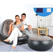 Sofá Poltrona Inflável Sala Conforto Puff Casa Cama Móveis