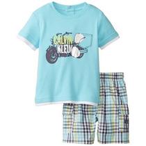 Calvin Klein Conjunto De Niños De 2 Piezas Tee Blue